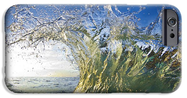 Wave iPhone Cases - Gold Surprise iPhone Case by Sean Davey