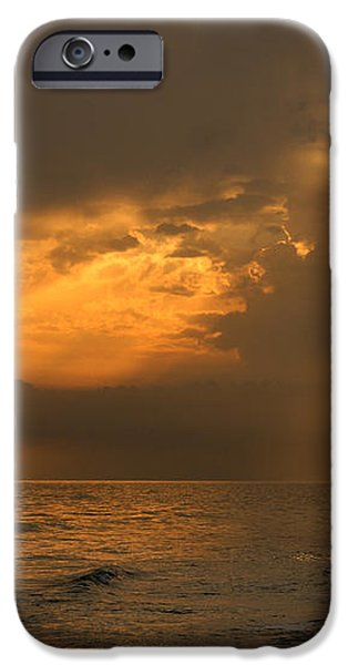 Gold through the clouds iPhone Case by Guido Montanes Castillo