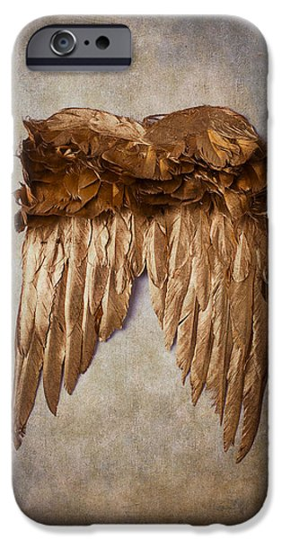 Vertical Flight iPhone Cases - Gold Wings iPhone Case by Garry Gay