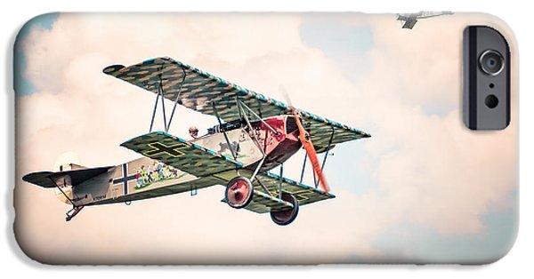 Recently Sold -  - Flight iPhone Cases - Golden Age of Aviation - Fokker D. 7 - World War I iPhone Case by Gary Heller