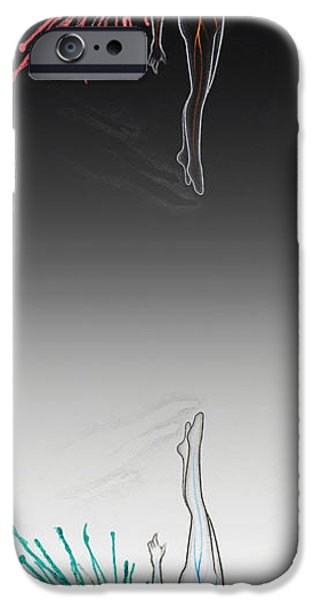 Night Angel iPhone Cases - Surreal Inversion Angel Painting  iPhone Case by Anila Tac