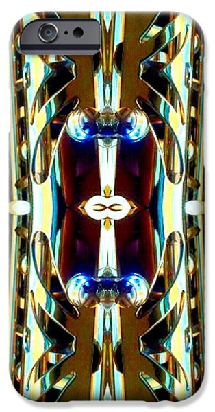 Socal Mixed Media iPhone Cases - Golden Armor iPhone Case by Romy Galicia