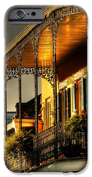 Chrystal iPhone Cases - Golden Balcony iPhone Case by Greg and Chrystal Mimbs