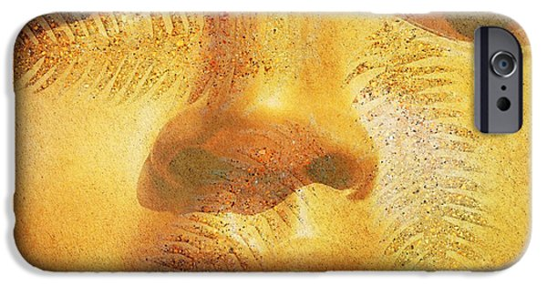 Stretched Canvas iPhone Cases - Golden Buddha - Art By Sharon Cummings iPhone Case by Sharon Cummings