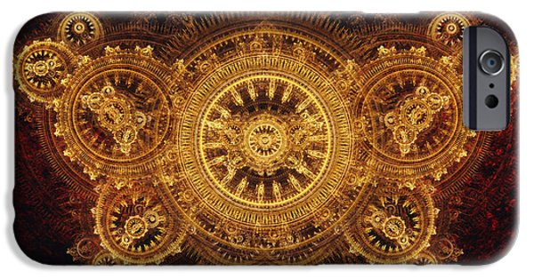 Gearing iPhone Cases - Golden butterfly iPhone Case by Martin Capek