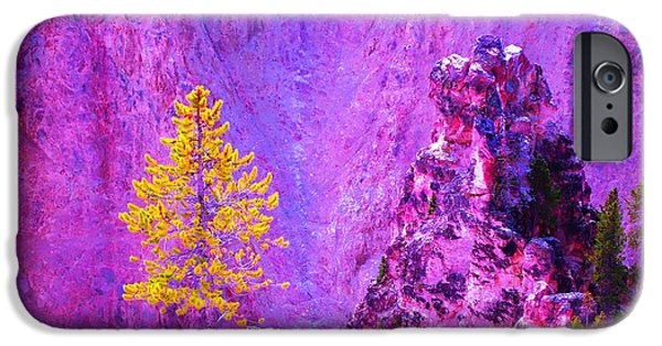 Ann Johndro-collins iPhone Cases - Golden Christmas in Yellowstone iPhone Case by Ann Johndro-Collins