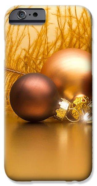 Golden Christmas iPhone Case by Wim Lanclus