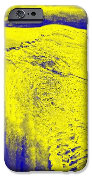 Snowy Night Mixed Media iPhone Cases - Golden Clouds One Snowy Hill iPhone Case by Feile Case