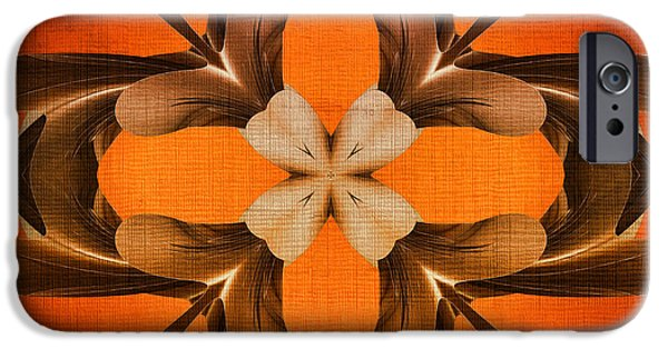 Generative iPhone Cases - Golden Clover iPhone Case by Deborah Benoit