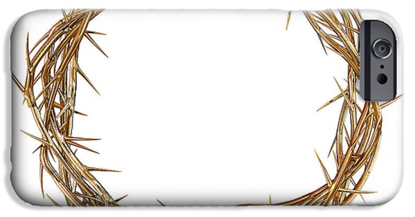 Valuable iPhone Cases - Golden Crown Of Thorns iPhone Case by Allan Swart