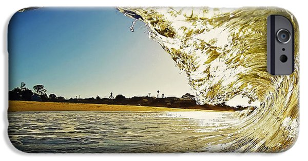 Santa Cruz Surfing iPhone Cases - Golden Curtain iPhone Case by Paul Topp