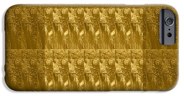 Electronic Mixed Media iPhone Cases - Golden Decorative Patterns designed by NavinJoshi               iPhone Case by Navin Joshi