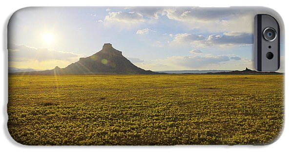 Sun Rays iPhone Cases - Golden Desert iPhone Case by Chad Dutson