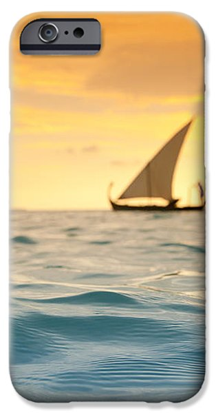Golden Dhoni Sunset iPhone Case by Sean Davey