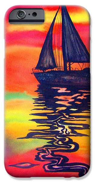 Before The Mast iPhone Cases - Golden Dreams iPhone Case by Lil Taylor