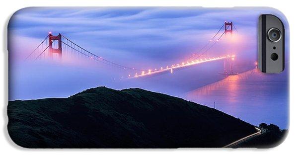 Bay Bridge iPhone Cases - Golden  iPhone Case by Dustin  LeFevre