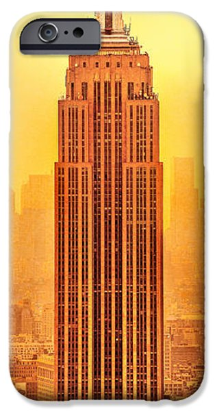 Empire State iPhone Cases - Golden Empire State iPhone Case by Az Jackson