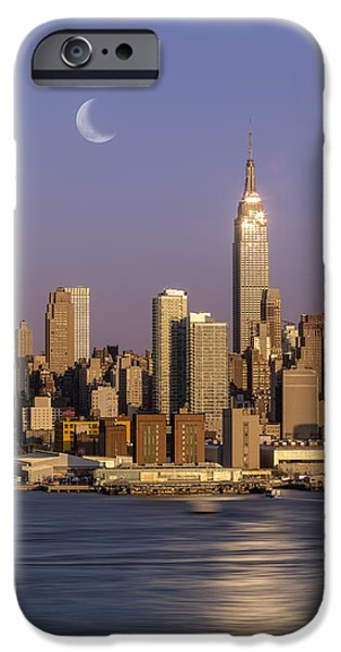 Empire State iPhone Cases - Golden Empire iPhone Case by Susan Candelario
