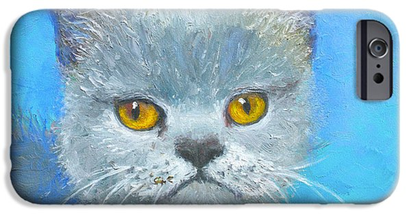 Photos Of Cats iPhone Cases - Golden Eyes Cat iPhone Case by Jan Matson