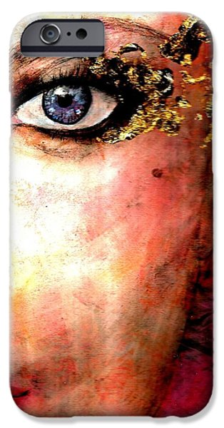 Portrait Of Evil iPhone Cases - Golden Eyes iPhone Case by P J Lewis