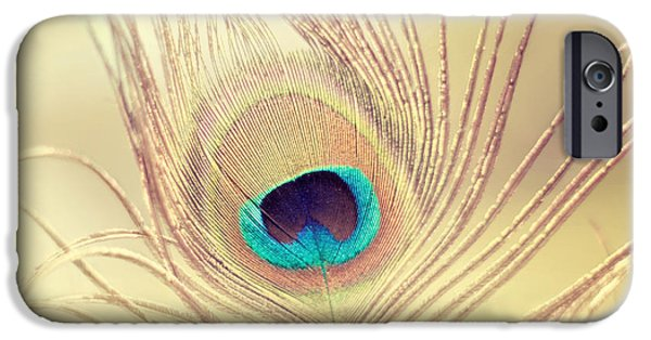 Large Print iPhone Cases - Golden Feather iPhone Case by Amy Tyler