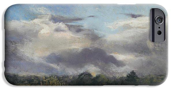 Field. Cloud Pastels iPhone Cases - Golden fields iPhone Case by Kathryn Dalziel