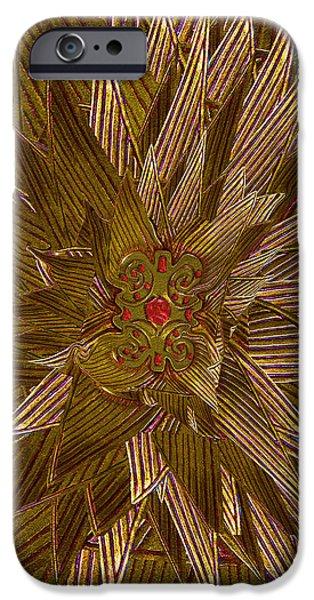 Zeus iPhone Cases - Golden Flower - Ruby Heart iPhone Case by Michele  Avanti