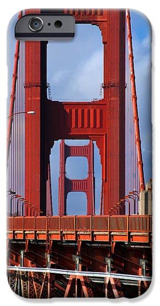 Bay Bridge iPhone Cases - Golden Gate Bridge iPhone Case by Adam Romanowicz