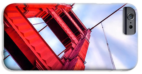 Golden Gate iPhone Cases - Golden Gate Boom iPhone Case by Az Jackson