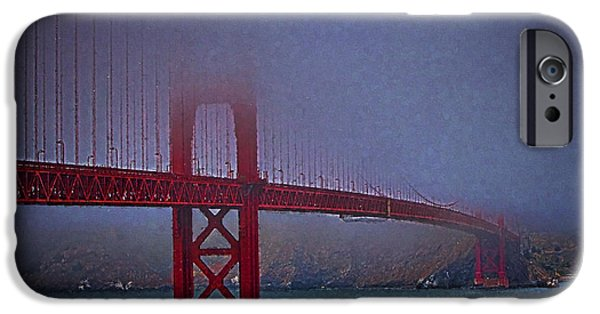 Sausalito iPhone Cases - Golden Gate Bridge  ... iPhone Case by Chuck Caramella