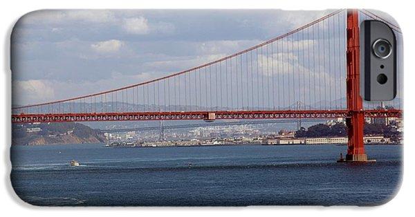 Covered Bridge iPhone Cases - Golden Gate Bridge 2 iPhone Case by Kathleen Struckle