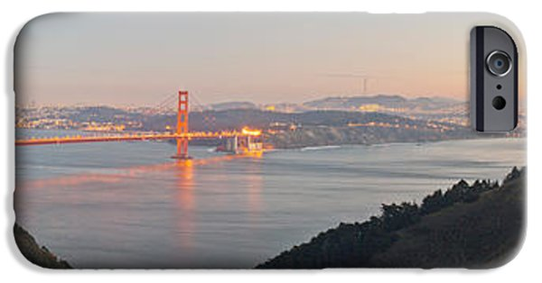 Connection iPhone Cases - Golden Gate Bridge Across The Bay iPhone Case by Panoramic Images