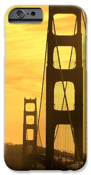 Sight Seeing San Francisco iPhone Cases - Golden Gate Bridge  iPhone Case by Clare Bevan