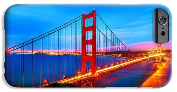 Golden Gate iPhone Cases - Follow the Golden Trail iPhone Case by Az Jackson