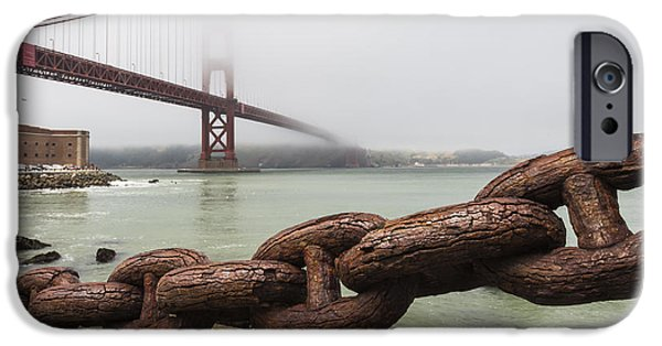 Pch iPhone Cases - Golden Gate Bridge Chain iPhone Case by Adam Romanowicz