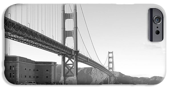 Alcatraz iPhone Cases - Golden Gate Bridge iPhone Case by Daniel Hagerman
