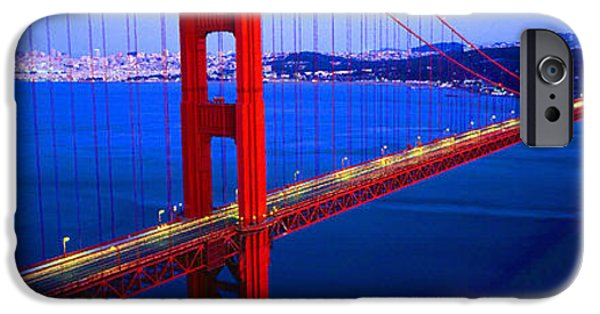 Dirty iPhone Cases - Golden Gate Bridge II Panoramic View iPhone Case by Don Kuing