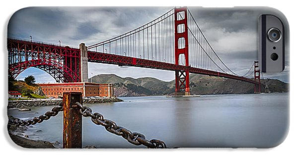 Best Sellers -  - Bay Bridge iPhone Cases - Golden Gate Bridge iPhone Case by Eduard Moldoveanu