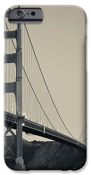 Built Structure iPhone Cases - Golden Gate Bridge From Fort Point iPhone Case by Panoramic Images