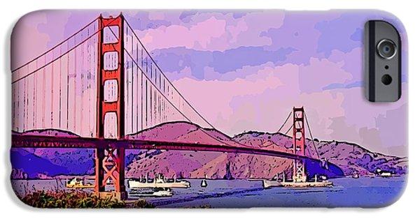 Bay Bridge iPhone Cases - Golden Gate Bridge iPhone Case by John Malone