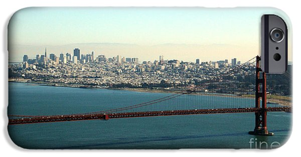 Bay Bridge Mixed Media iPhone Cases - Golden Gate Bridge iPhone Case by Linda Woods
