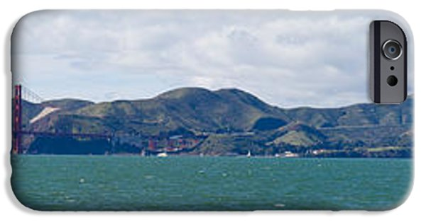 Marin iPhone Cases - Golden Gate Bridge, Marin Headlands iPhone Case by Panoramic Images