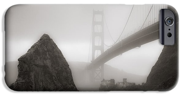 Sausalito iPhone Cases - Golden Gate Bridge iPhone Case by Niels Nielsen