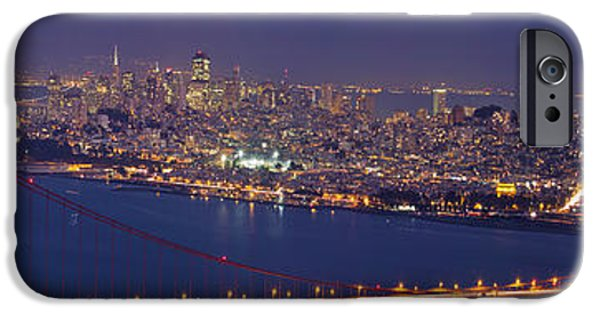 Sausalito iPhone Cases - Golden Gate Bridge over San Francisco Bay iPhone Case by JPLDesigns