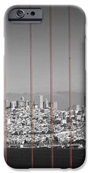 Golden Gate Bridge Panoramic Downtown View iPhone Case by Melanie Viola