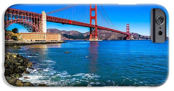 Connection iPhone Cases - Golden Gate Bridge San Francisco Bay iPhone Case by Scott McGuire