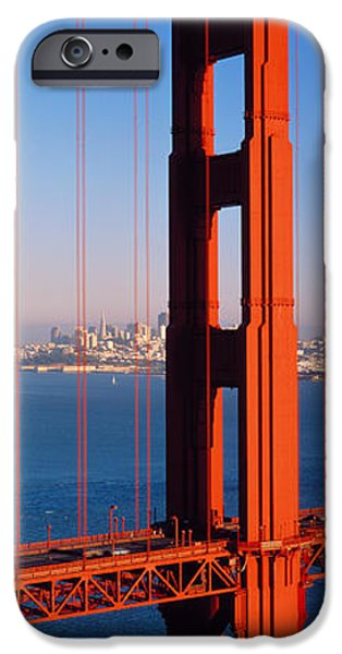 Connection iPhone Cases - Golden Gate Bridge San Francisco Ca iPhone Case by Panoramic Images