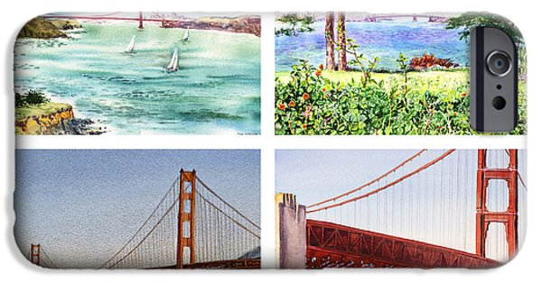 Golden Gate iPhone Cases - Golden Gate Bridge San Francisco California iPhone Case by Irina Sztukowski