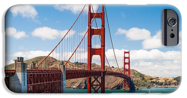 Sausalito iPhone Cases - Golden Gate Bridge iPhone Case by Sarit Sotangkur
