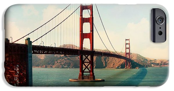 Sausalito iPhone Cases - Golden Gate Bridge iPhone Case by Sylvia Cook